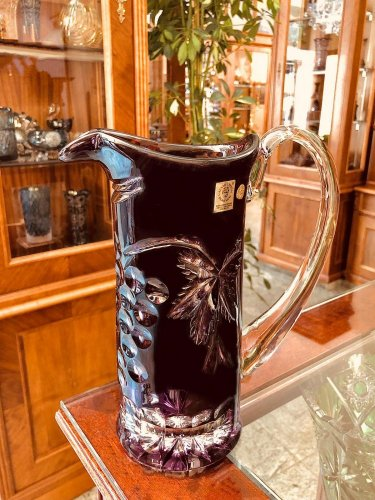 Color-cut crystal pitcher - Height 23cm/900ml