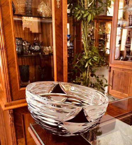 Color-cut crystal bowl - Red - Height 10cm