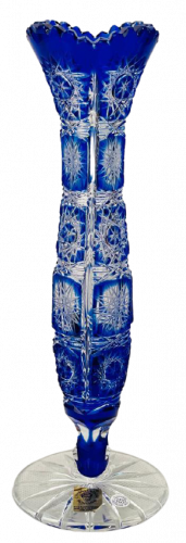 Color-cut crystal vase - Height 23cm