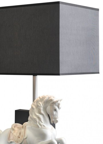 Horse on Courbette Table Lamp (CE)