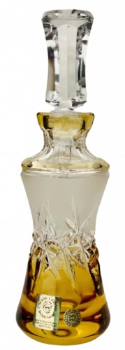 Color-cut crystal bottle for perfume - Height 18cm