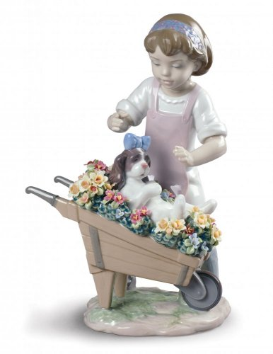 Let's Go for A Ride Girl Figurine