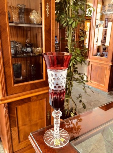 Color-cut crystal champagne glass - 1pc - Height 24cm/155ml