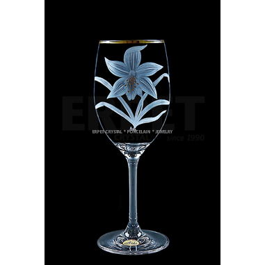Engraved gold-plated crystal glasses - set of 2pcs