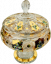 Gold-plated cut crystal box - Height 33cm