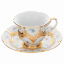 B-form gold bronze strewn flowers - Coffee cup with saucer