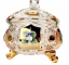 Gold-plated cut crystal box - Height 17cm