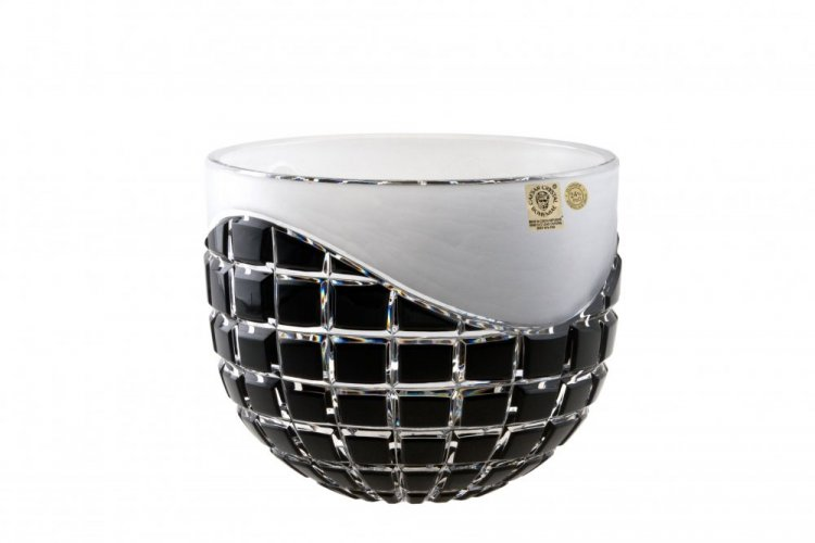 Color-cut crystal bowl - Height 16cm
