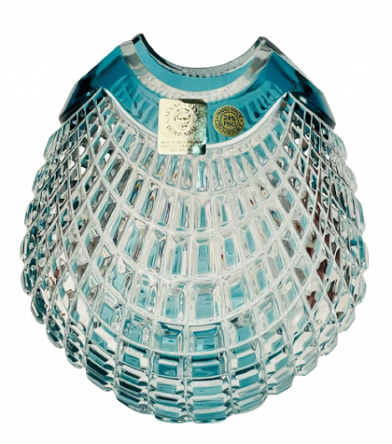 Color-cut crystal vase - Height 14cm