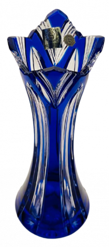 Color-cut crystal vase - Height 25cm