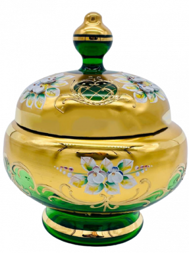 Box decorated with high enamel - Height 20cm