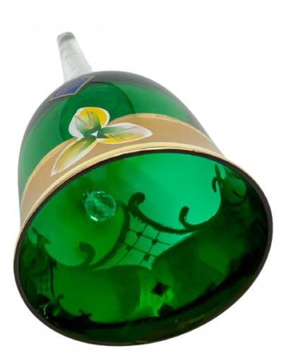 Bell decorated with high enamel - Height 13cm