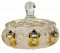 Gold-plated cut crystal box - Height 14cm