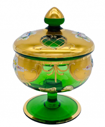 Box decorated with high enamel - Height 14cm